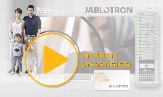 Prezentacja multimedialna systemu alarmowego JABLOTRON 100