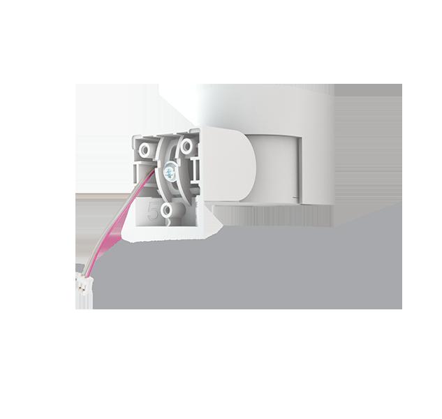 Ułatwiony montaż czujek ruchu (w rogach ściany) dzięki przegubowemu mocowaniu JA-192PL