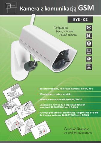 Ulotka kamery EYE-02 GSM