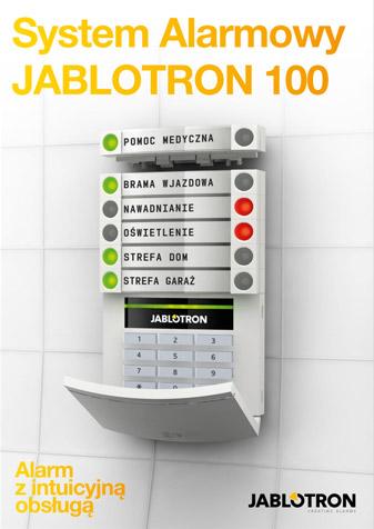 Alarm do domu JA-100 z infuicyjnym sterowaniem (ulotka).