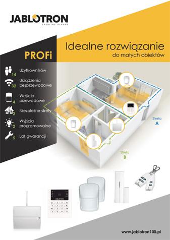 Ulotka systemu PROFI, rozwiązanie dla małych obiektów