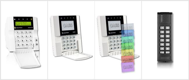 Przegląd klawiatur systemu alarmowego OASiS