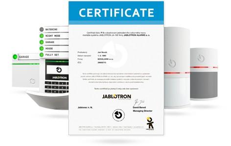 Certyfikat instalatora Jablotron